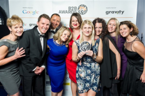 Man Bites Dog - B2B Marketing Awards win