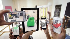 An augmented reality living room