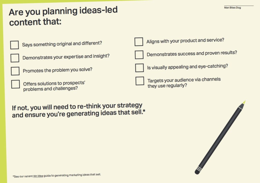Checklist to ensure you are producing effective content marketing