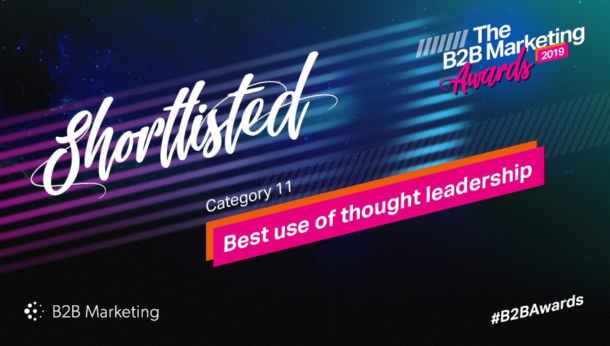 Banner for the B2B Marketing Awards category 11 'Best use of thought leadership'