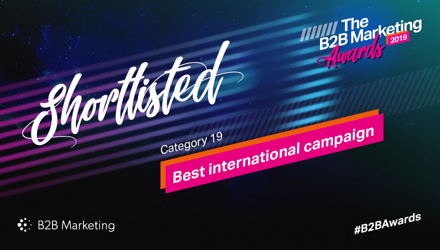 Banner for the B2B Marketing Awards category 11 'Best international campaign'