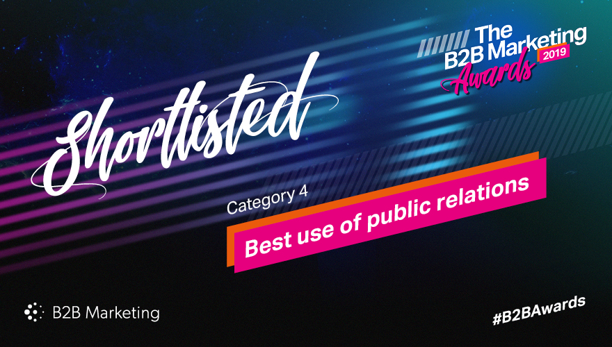 Banner for the B2B Marketing Awards category 11 'Best use of public relations'